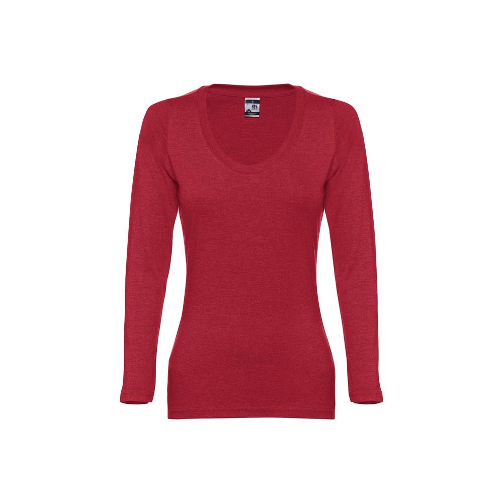 THC BUCHAREST WOMEN. Women's long sleeve t-shirt - Heather Red / XXL