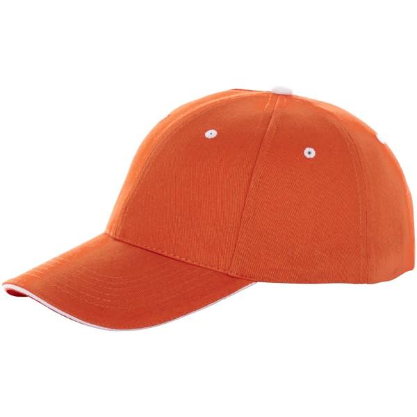 Brent 6 panel sandwich cap - Orange