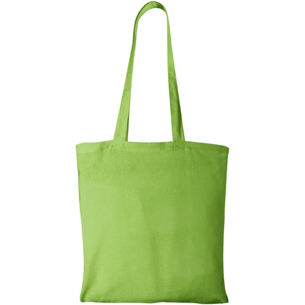 Madras 140 g/m² cotton tote bag - Lime