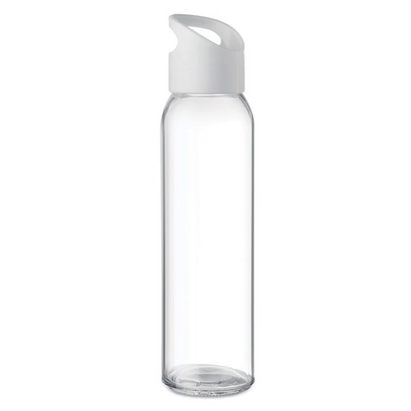 Glass bottle 470ml Praga - White