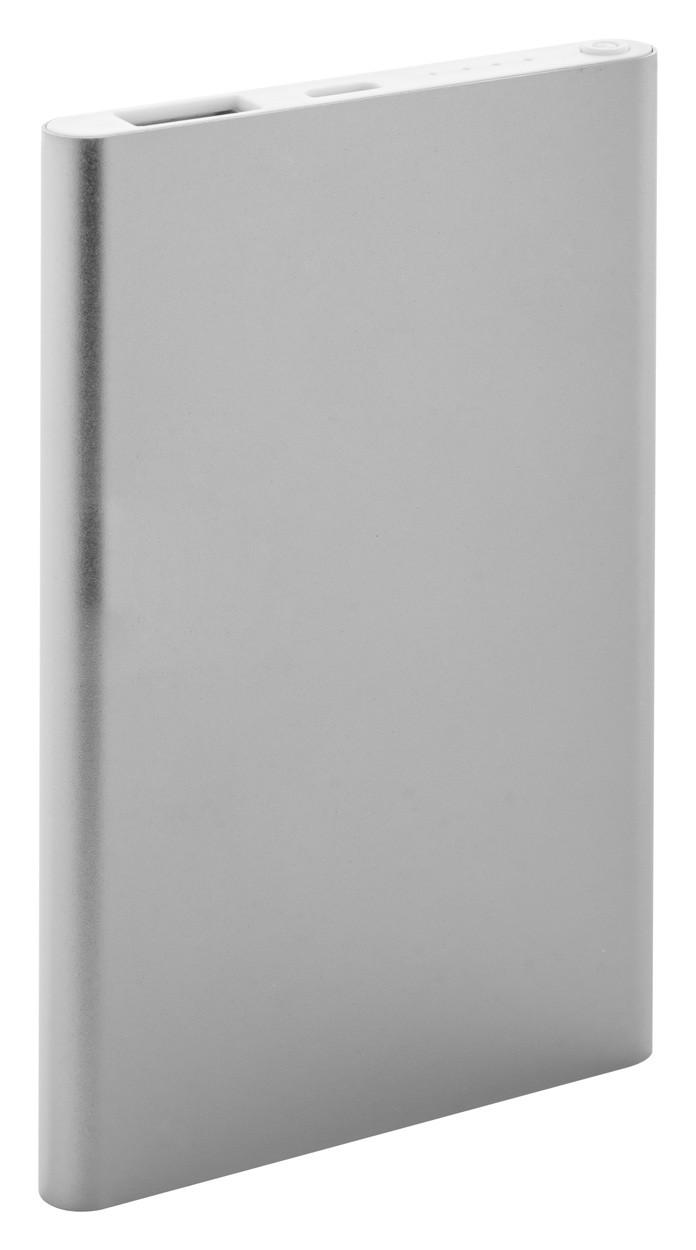 Usb Power Bank FlatFour - Silver