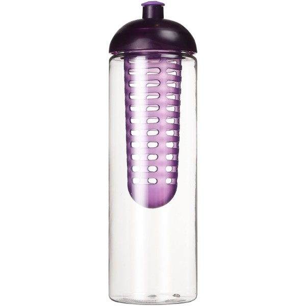 H2O Vibe 850 ml dome lid bottle & infuser - Transparent / Purple