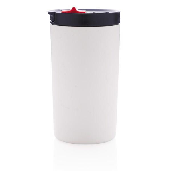 Nepropustný termohrnek se zámkem - Bílá / Modrá