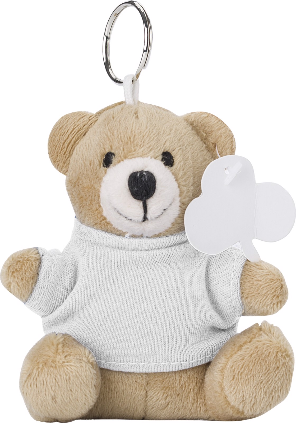 Plush key holder - White