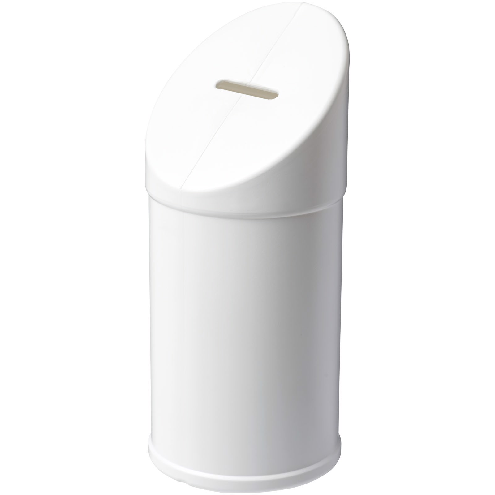 Heba plastic charity collector container - White