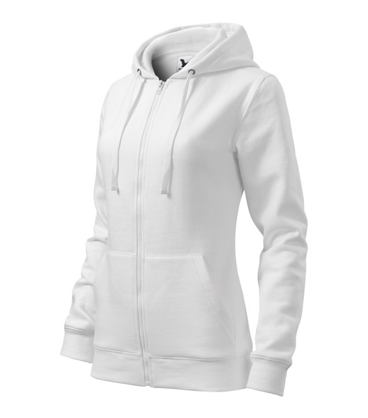 Sweatshirt Ladies Malfini Trendy Zipper - White / 2XL