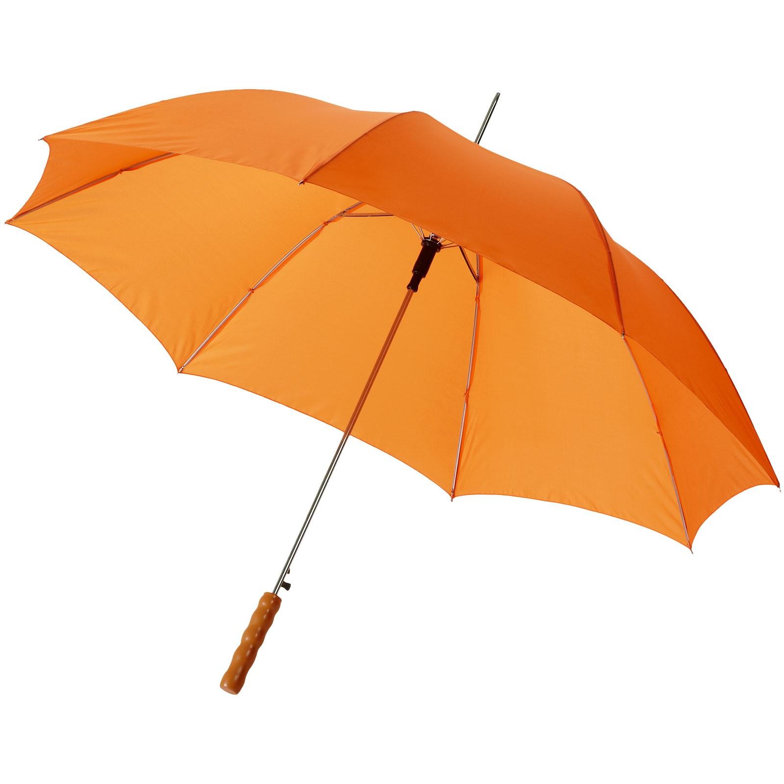 """23"""" deštník Lisa s automatickým otvíráním a dřevěnou rukojetí - 0ranžová"""