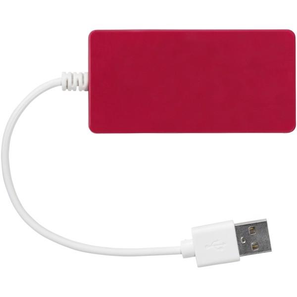 Rozbočovač USB Brick USB - Červená s efektem námrazy