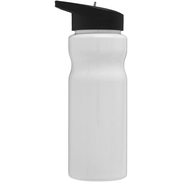 H2O Base® 650 ml spout lid sport bottle - White / Solid black