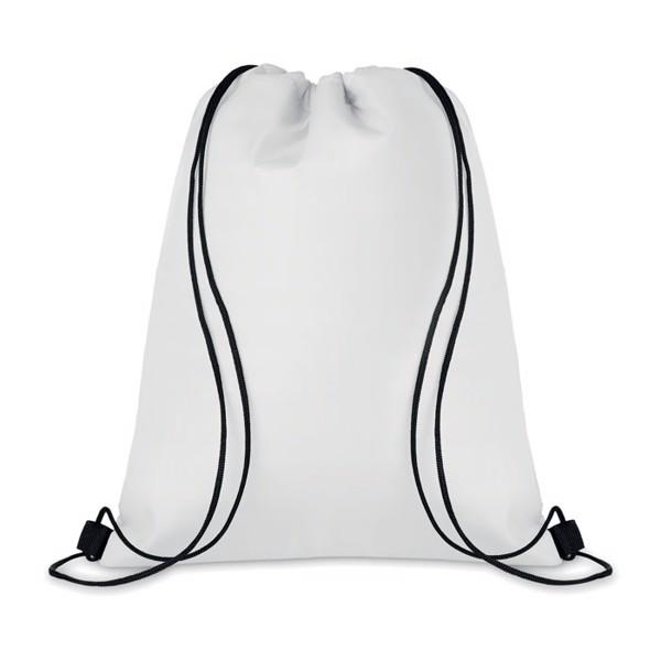 210D Drawstring cooler bag Cooltas - White