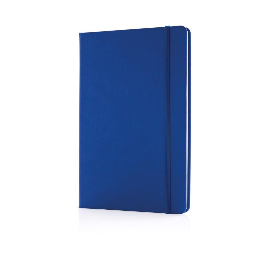 Deluxe PU keményfedelű A5-ös jegyzetfüzet - Kék