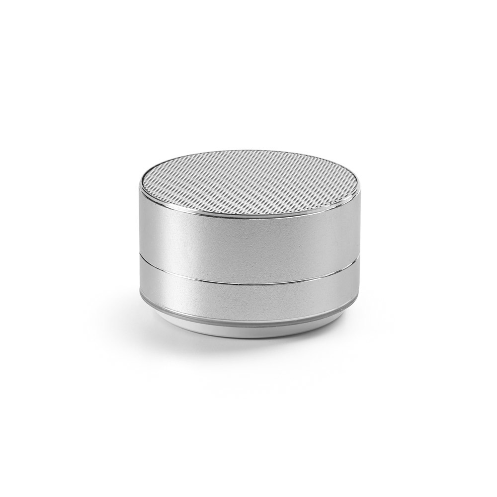 FLOREY. Portable speaker with microphone - Satin Silver