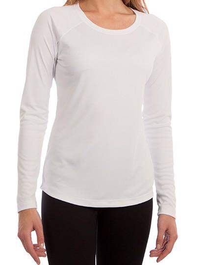 Ladies` Solar Performance Long Sleeve T-Shirt - White / XL