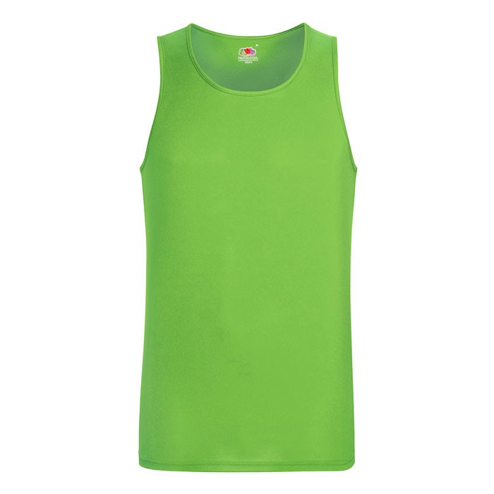 Herren T-Shirt Sport Performance Vest 61-416-0 - Lime / XXL