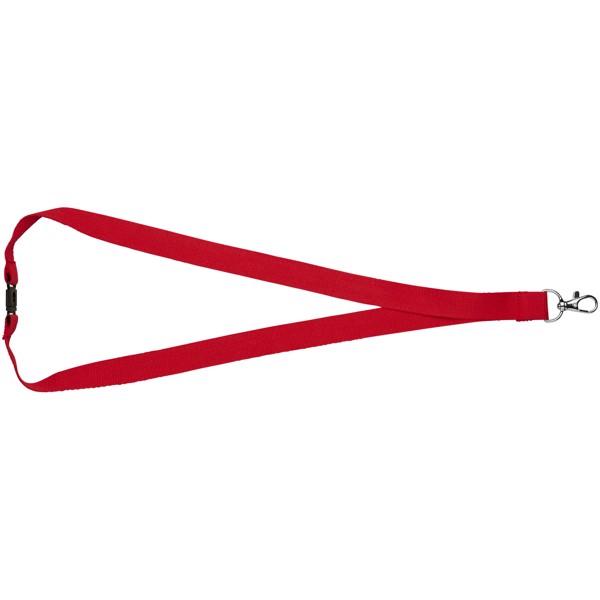 Bavlněná šňůrka Dylan s bezpečnostní sponou - Červená s efektem námrazy