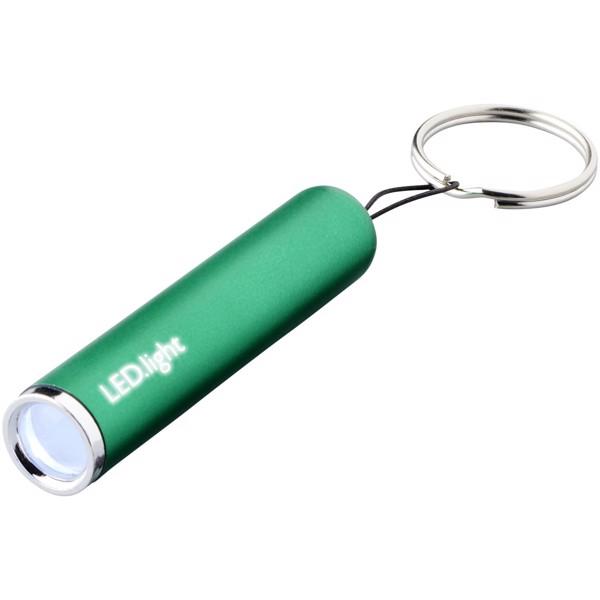 Klíčenková svítilna Pull s podsvíceným logem - Zelená
