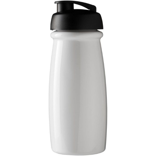 H2O Pulse® 600 ml flip lid sport bottle - White / Solid black