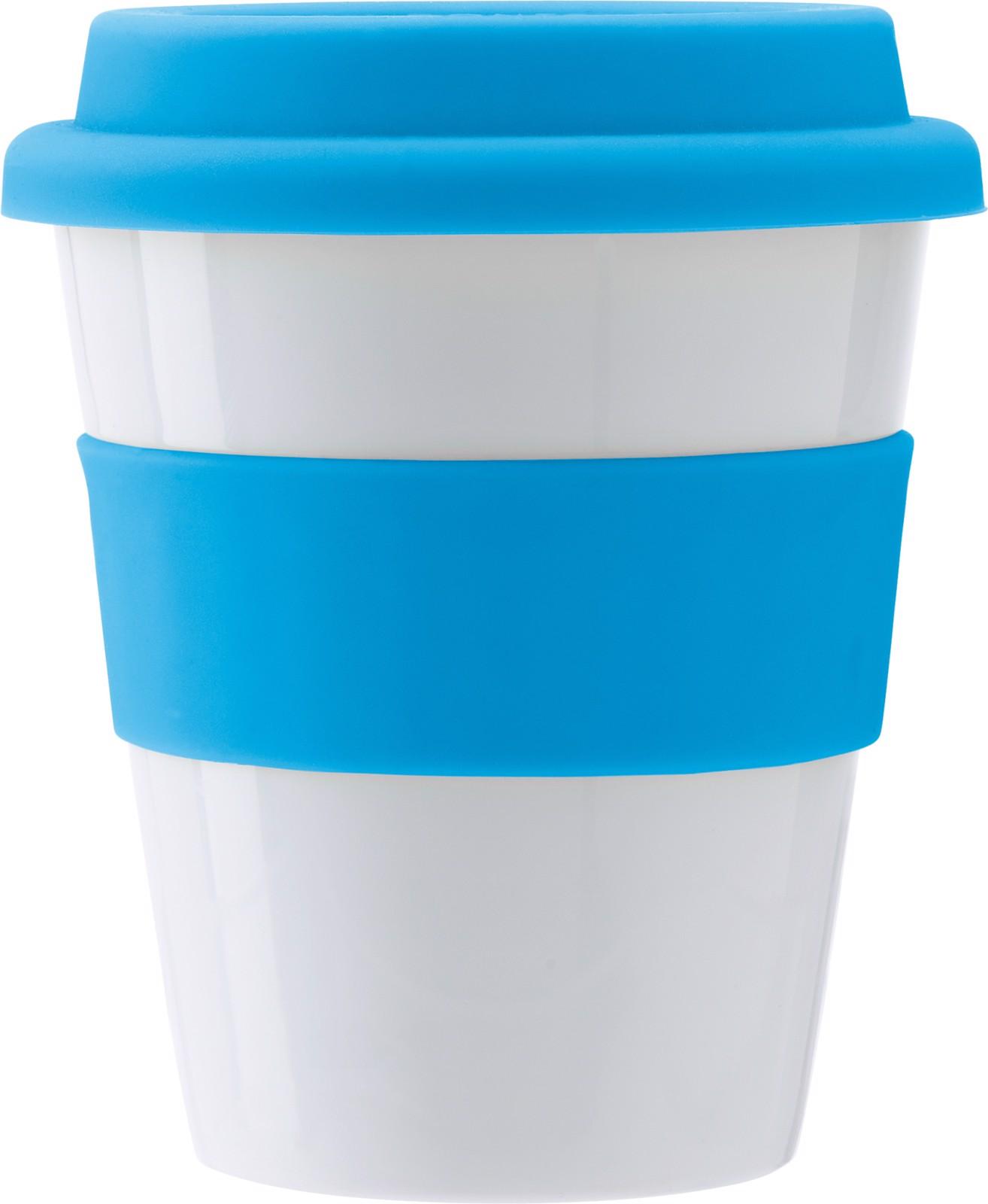 PP plastic drinking mug - Light Blue