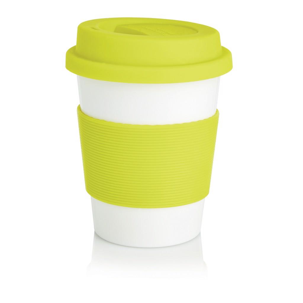 PLA kávésbögre - Lime Zöld / Fehér