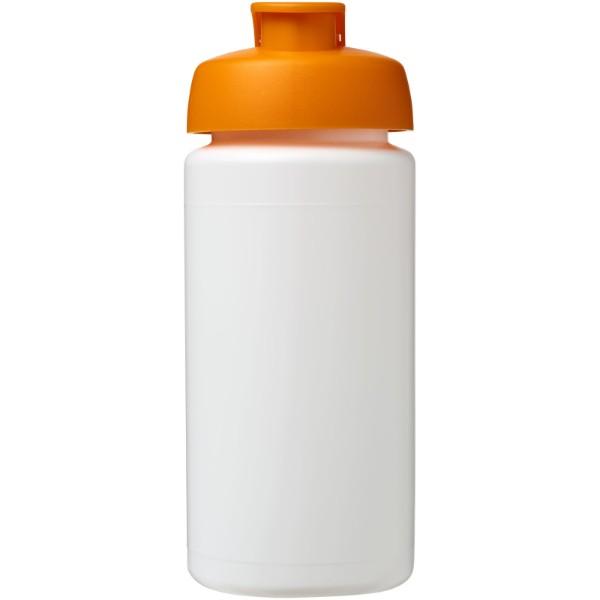 Sportovní láhev s vyklápěcím víčkem Baseline® Plus grip 500 ml - Bílá / 0ranžová