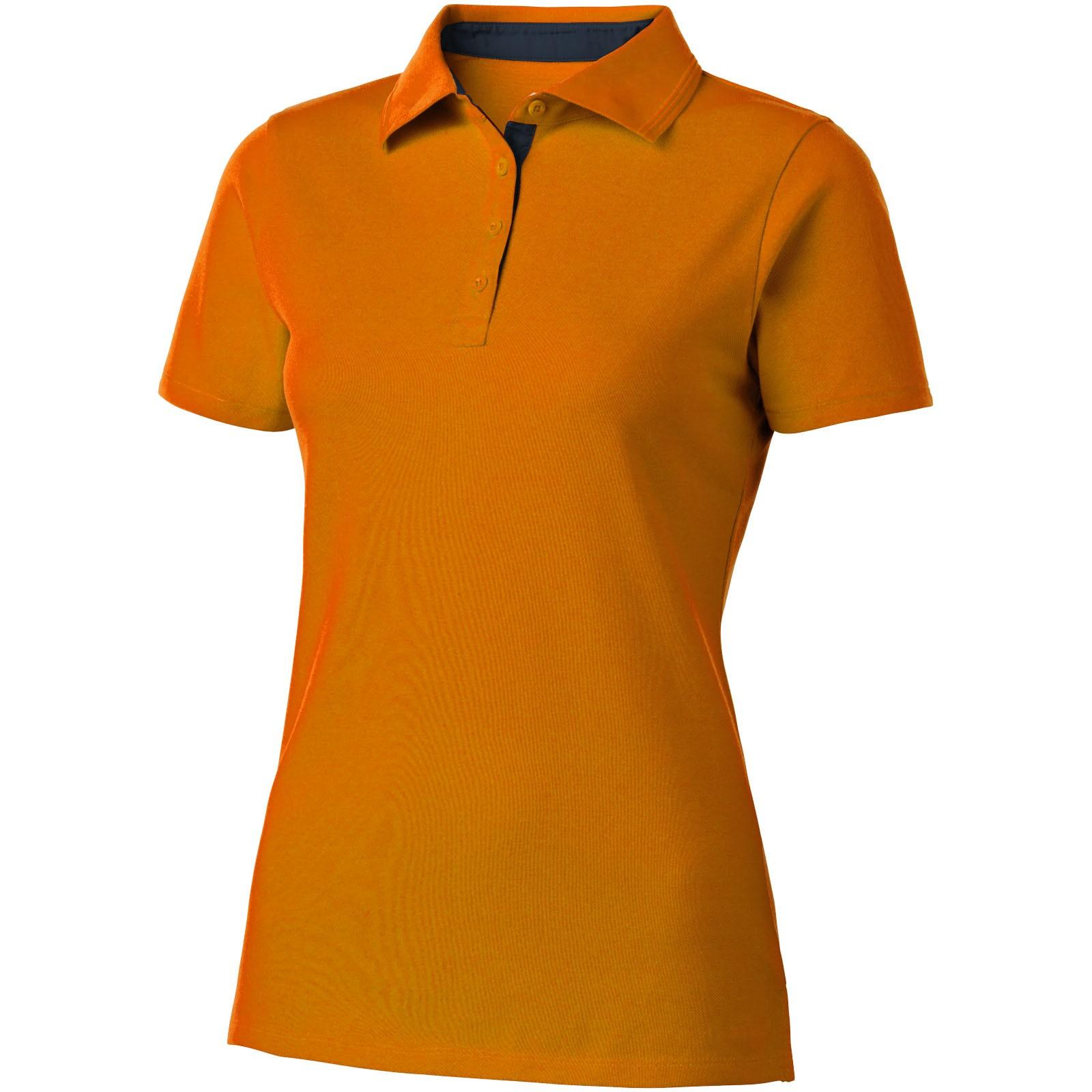 Hacker Poloshirt für Damen - Orange / Navy / S