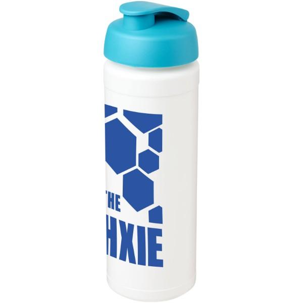 Sportovní láhev s vyklápěcím víčkem Baseline® Plus grip 750 ml - Bílá / Tyrkysová