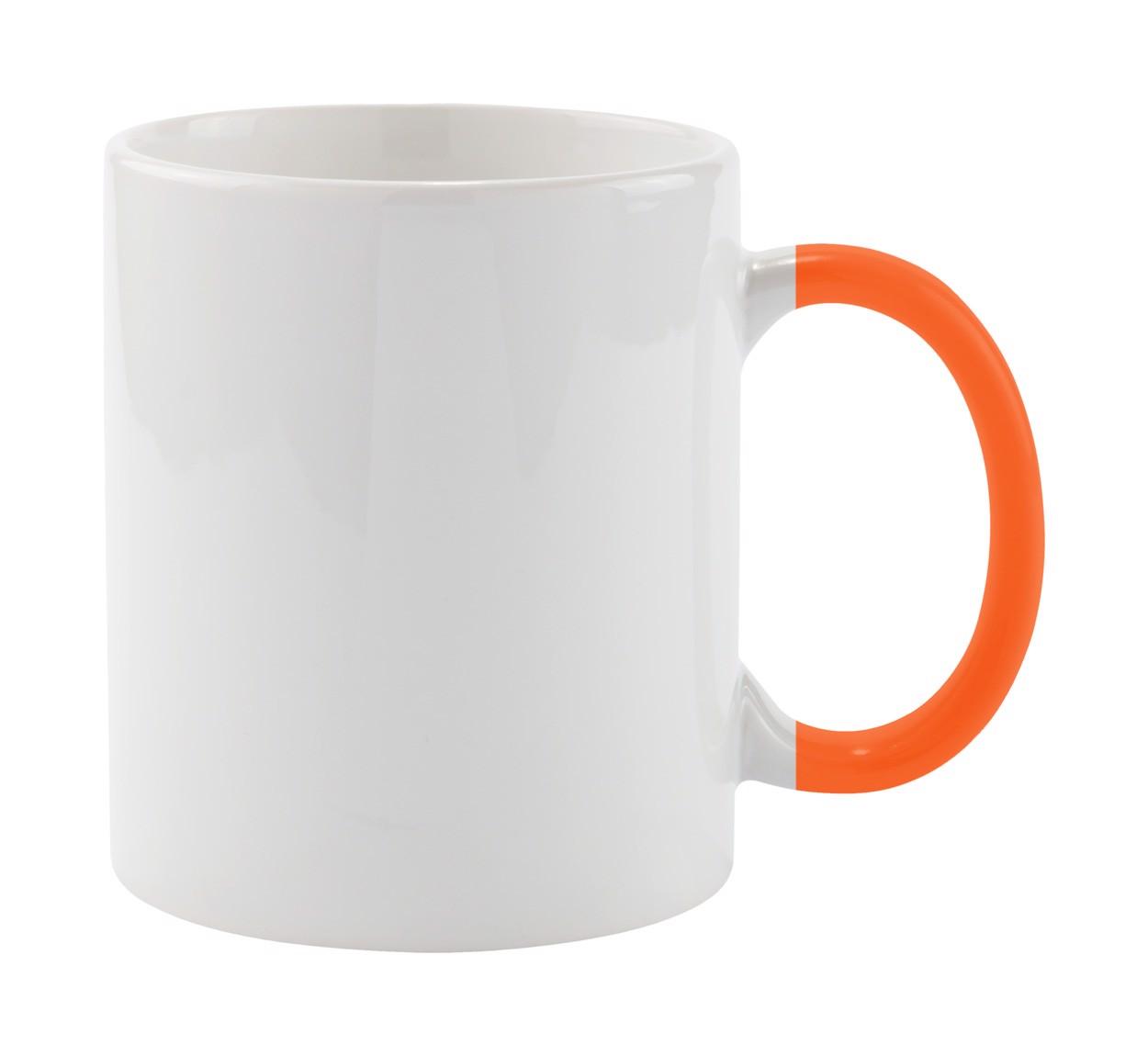 Hrnek Plesik - Bílá / Oranžová