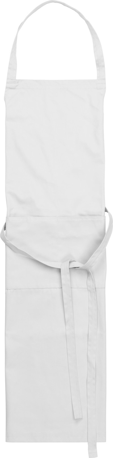 Cotton and polyester (240 gr/m²) apron - White
