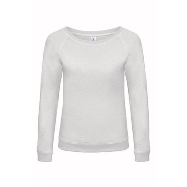 Sweatshirt B&C Dnm Starlight Women 280G - 80% Algodão / 20% Poliéster - Branco / XS