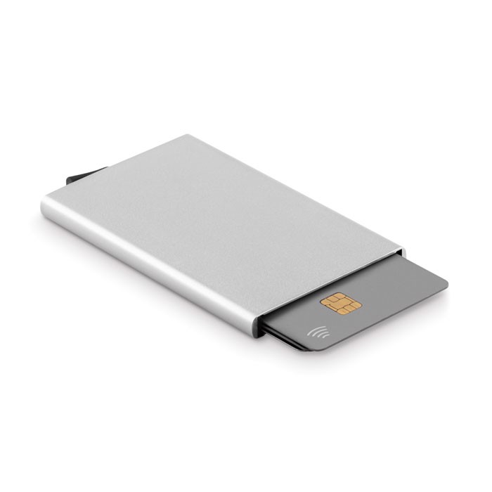 Aluminium RFID card holder Securpush - Matt Silver