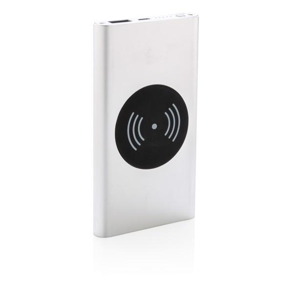 Bezdrátová powerbanka 4 000 mAh 5W - Stříbrná