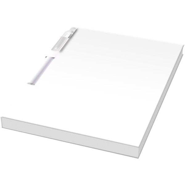 Essential konferenční sada poznámkového bloku A6 a pera - Bílá / Průhledná bezbarvá
