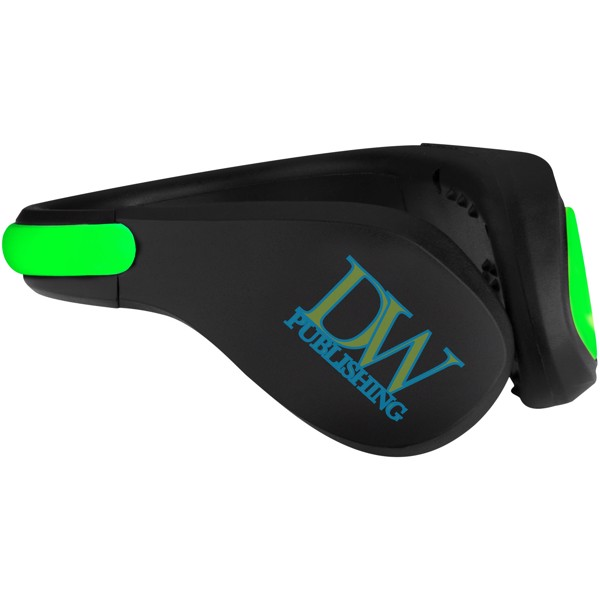 LED světlo na botu Usain - Světle zelená / Černá
