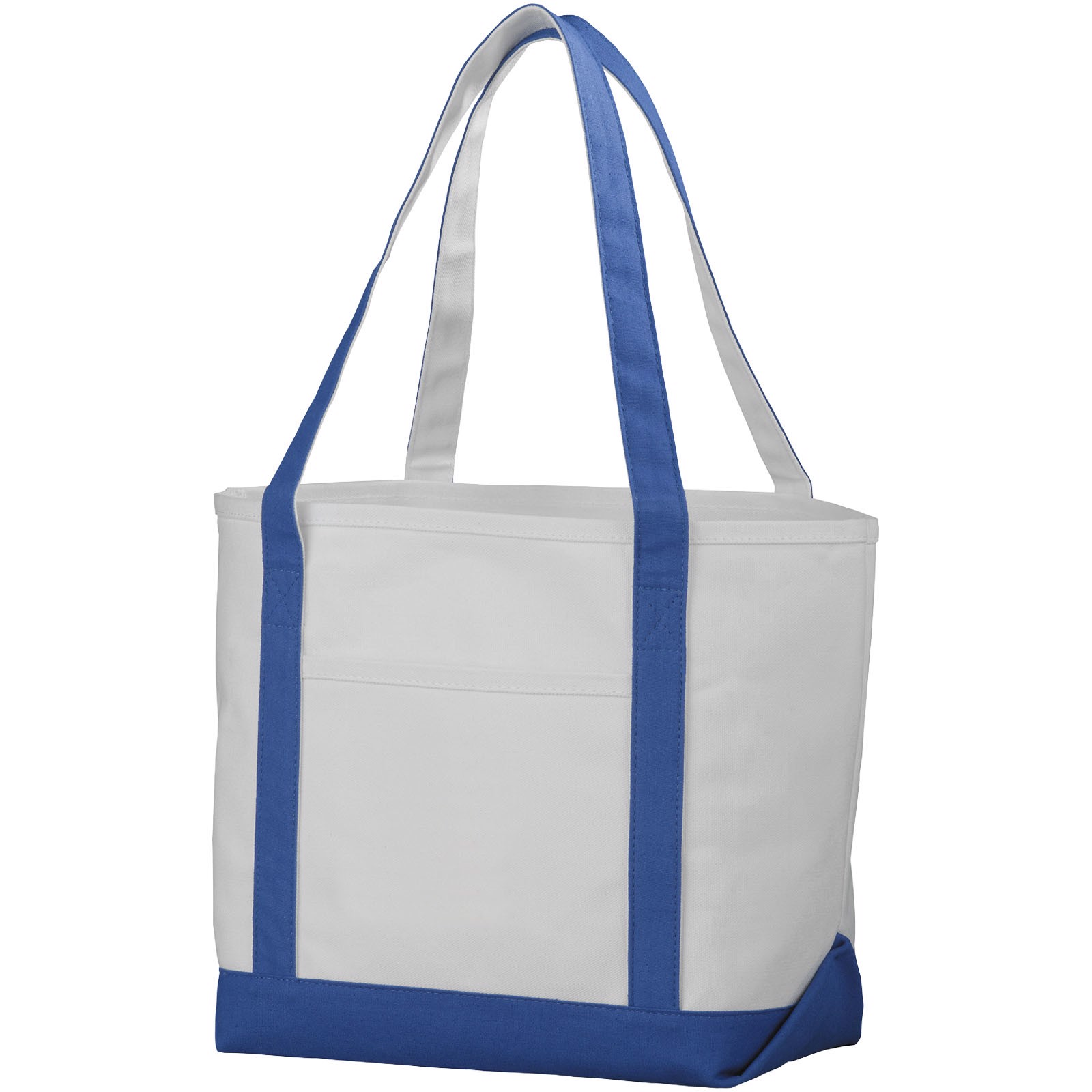 Premium heavy-weight 610 g/m² cotton tote bag - Natural / Royal blue