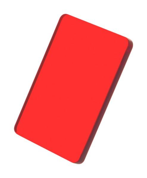 Custom Made Keyring CreaFob - Transparent Red