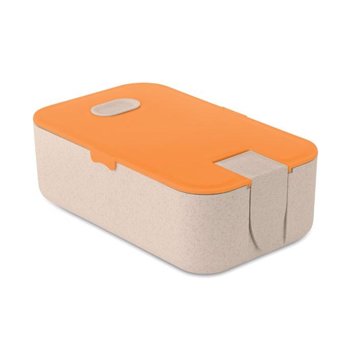 Lunchbox wheat straw fibre/PP Lunch2go - Orange