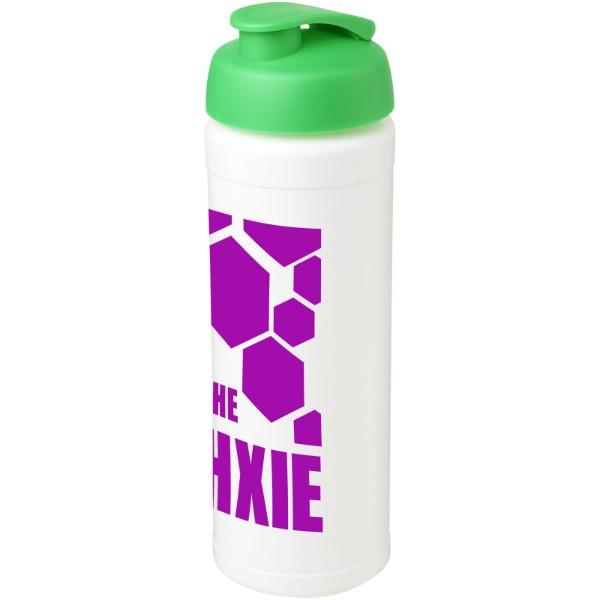 Sportovní láhev s vyklápěcím víčkem Baseline® Plus grip 750 ml - Bílá / Zelená