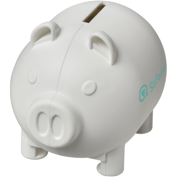 Oink small piggy bank - White
