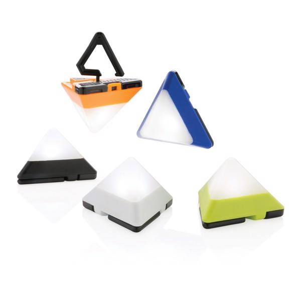 Trojúhelníková mini svítilna - Černá