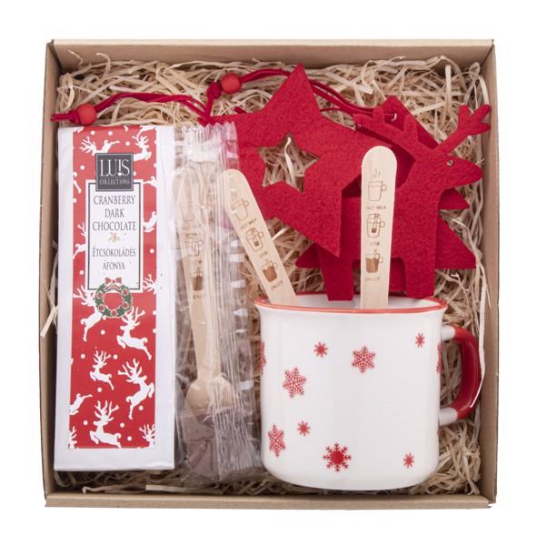 Hot Chocolate Gift Set Bruges - Natural