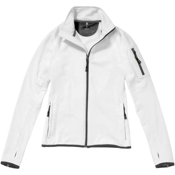 Mani power fleece full zip ladies jacket - White / XS