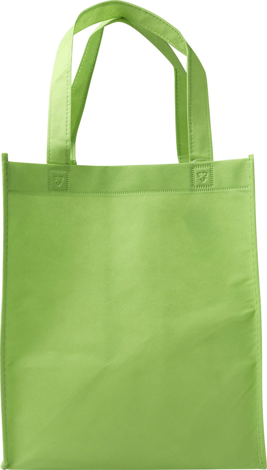 Nonwoven (80 gr/m²) shopping bag. - Lime