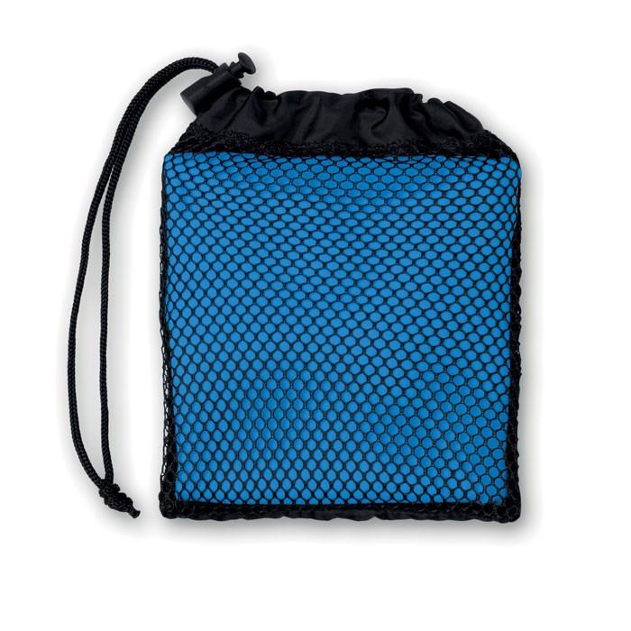 Ręcznik sportowy w woreczku Tuko - niebieski