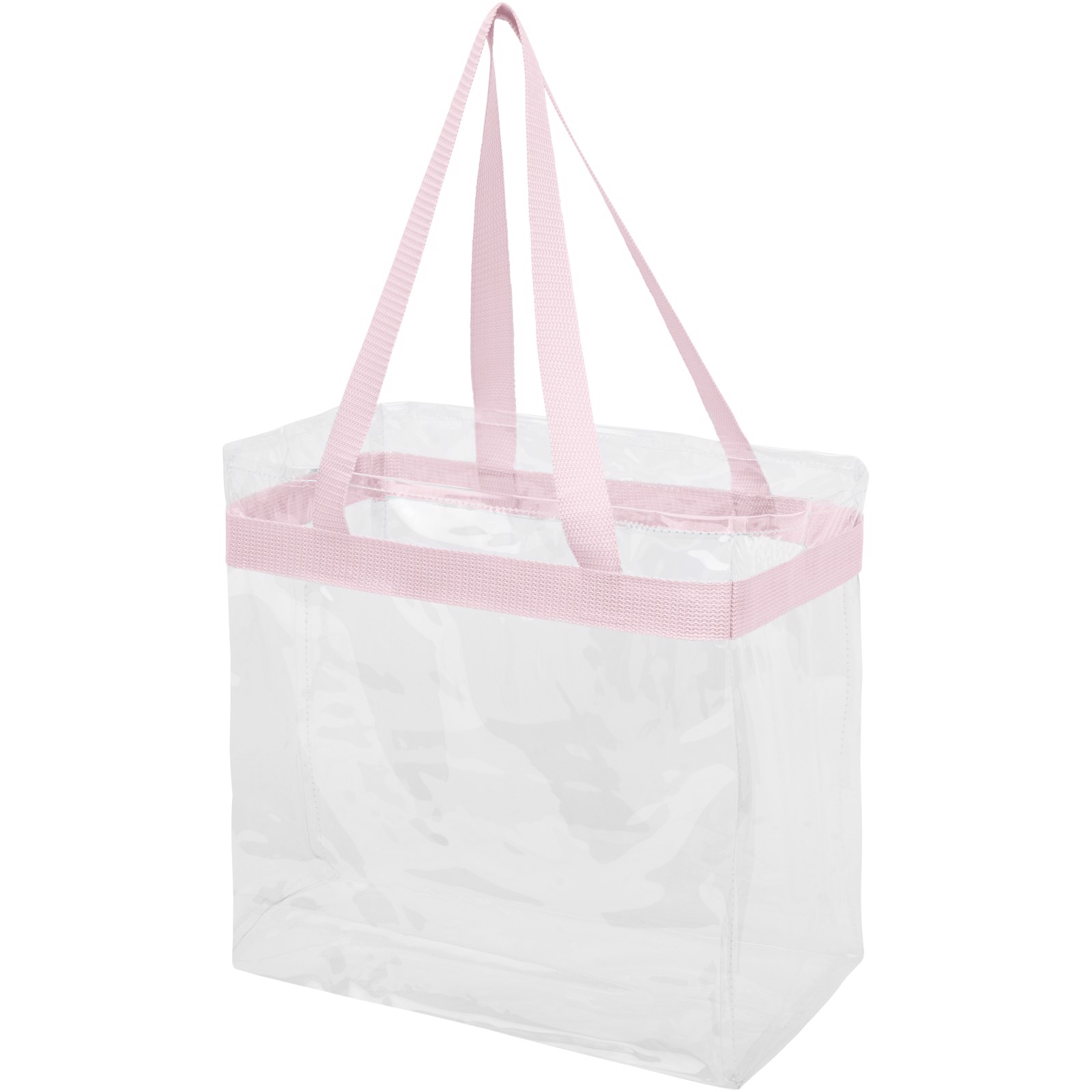 Hampton transparent tote bag - Light pink / Transparent clear