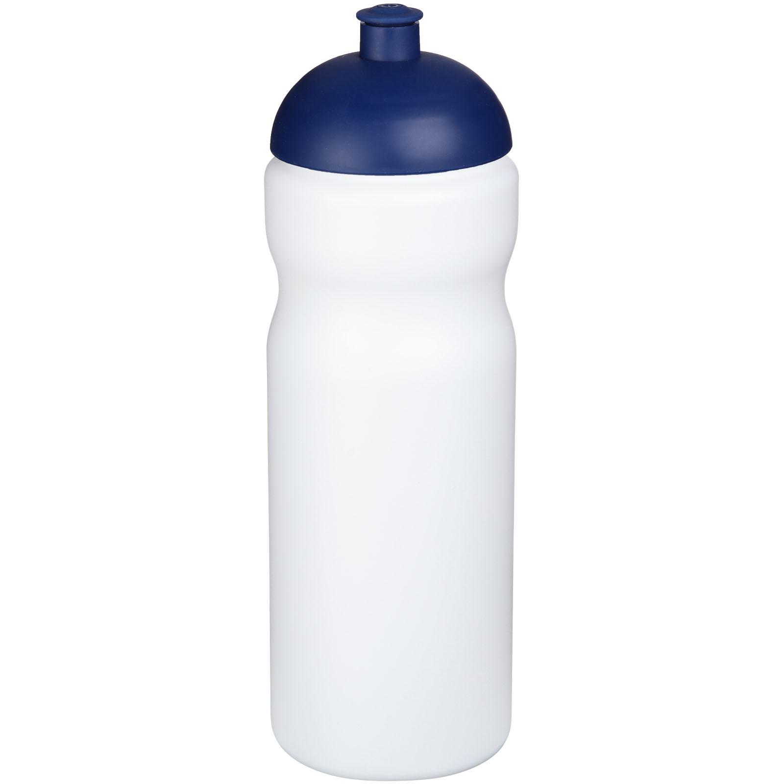 Sportovní láhev s kupolovitým víčkem Baseline® Plus 650 ml - Bílá / Modrá
