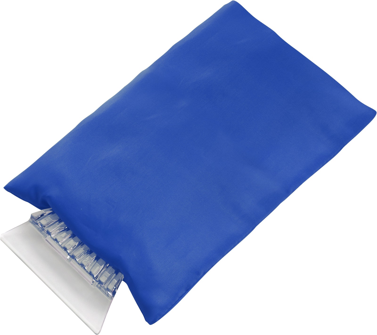 ABS ice scraper and polyester glove - Cobalt Blue