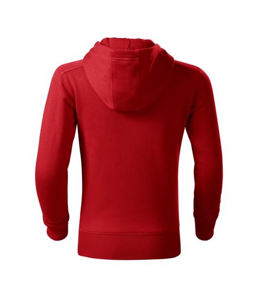 Mikina dětská Malfini Trendy Zipper - Červená / 134 cm/8 let