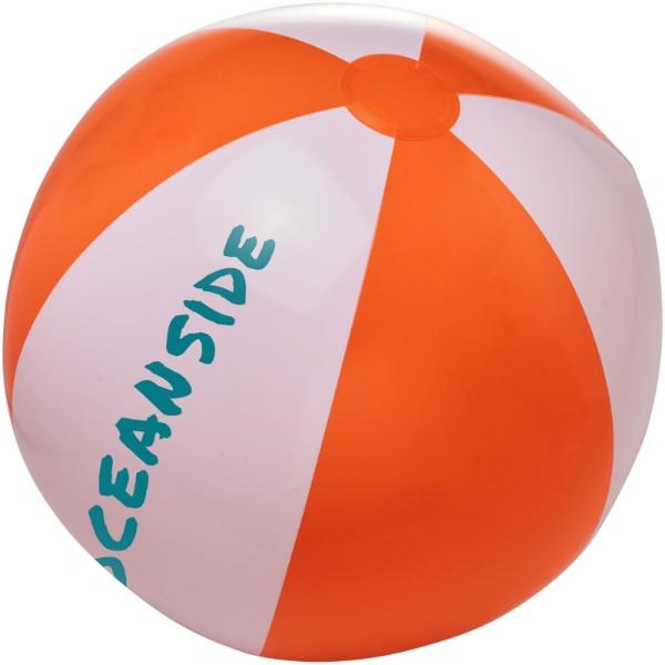 Bora neprůhledný plážový míč - Orange / White Solid