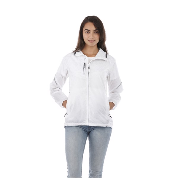 Signal reflective packable ladies jacket - White / XS