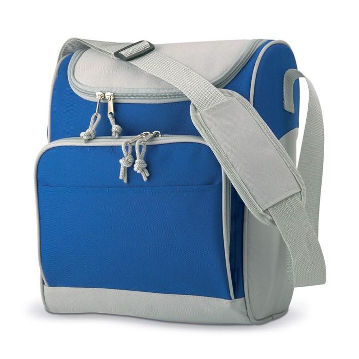 Torba izotermiczna z kieszenią Zipper - niebieski